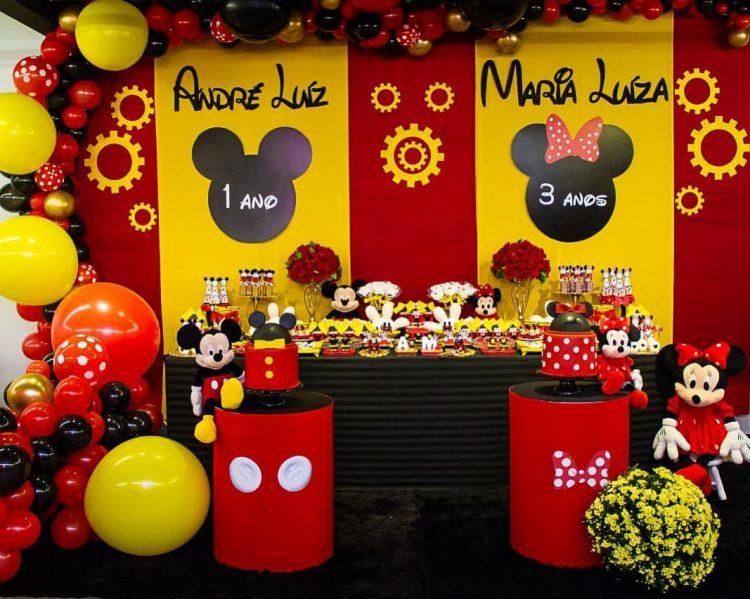 festa infantil mickey e minnie decoracao