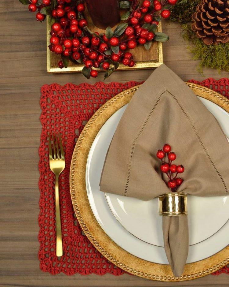 mesa simples para o natal