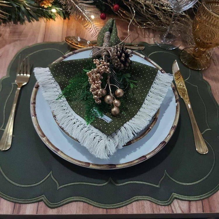mesa decorada para ceia de natal