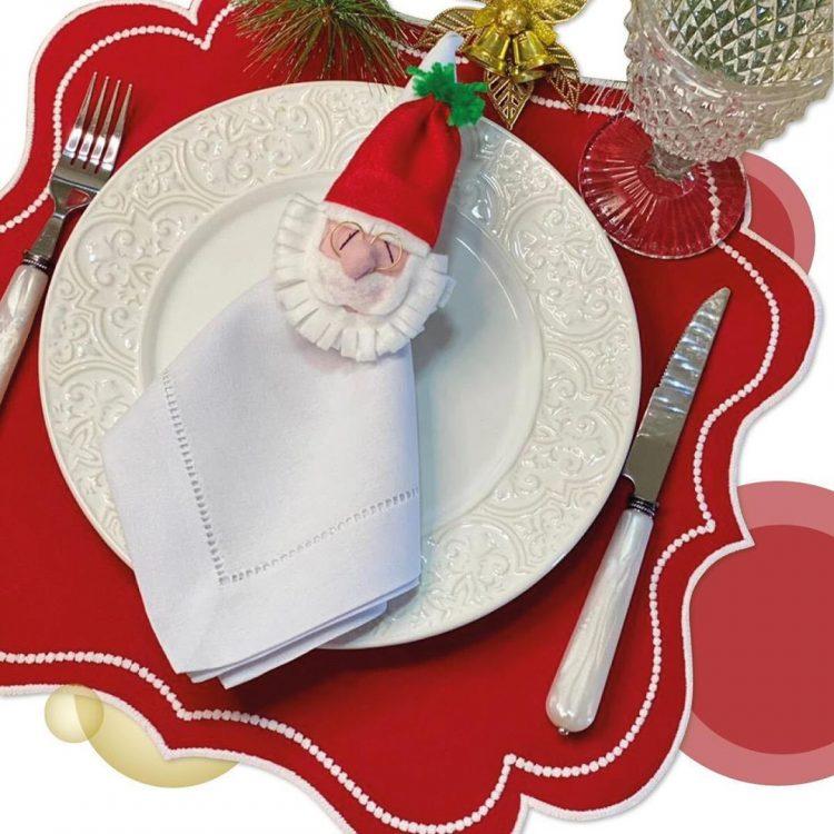 mesa posta para o natal