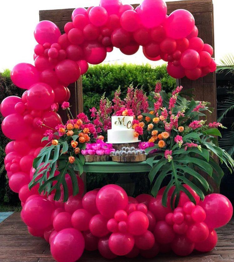 arco de balões para festa de adulto