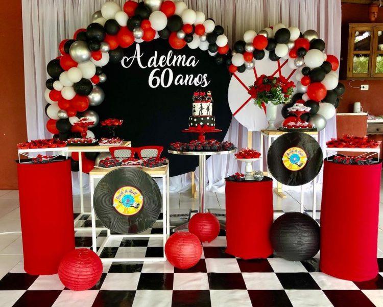 festa anos 60 decoração