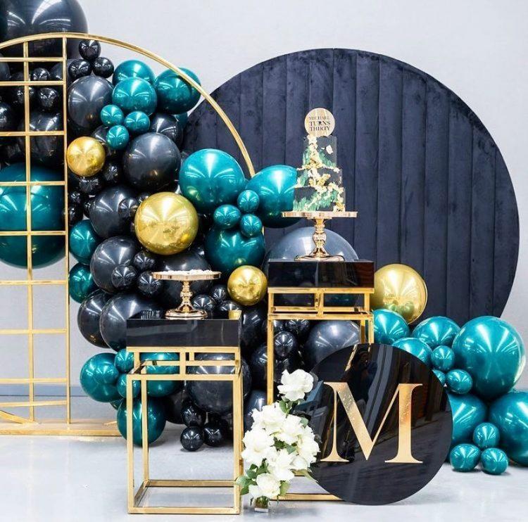 Balões metalizados para festa de adulto