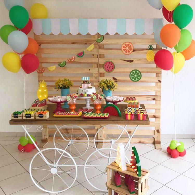 Festa frutas tipos de paineis de festa pallet