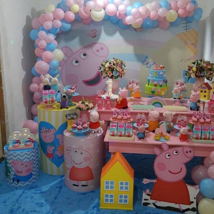 festa infantil no tema peppa pig